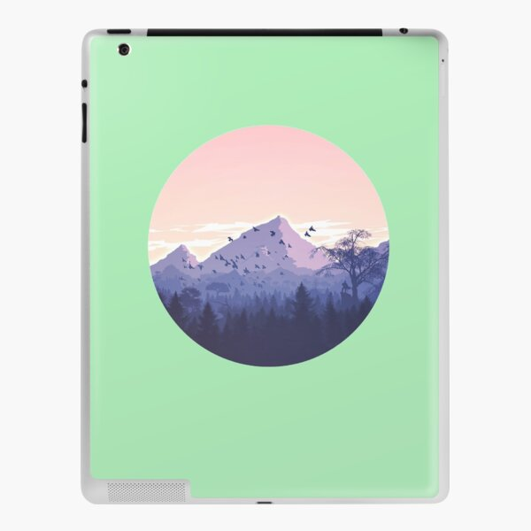 NATURE MOODY , moody adventure , forest moody , gift for adventurers iPad Skin