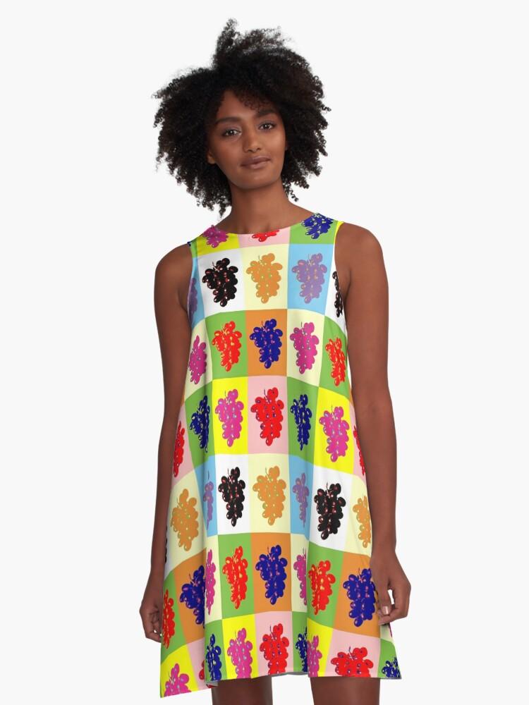 Grapes A-Line Dress Front