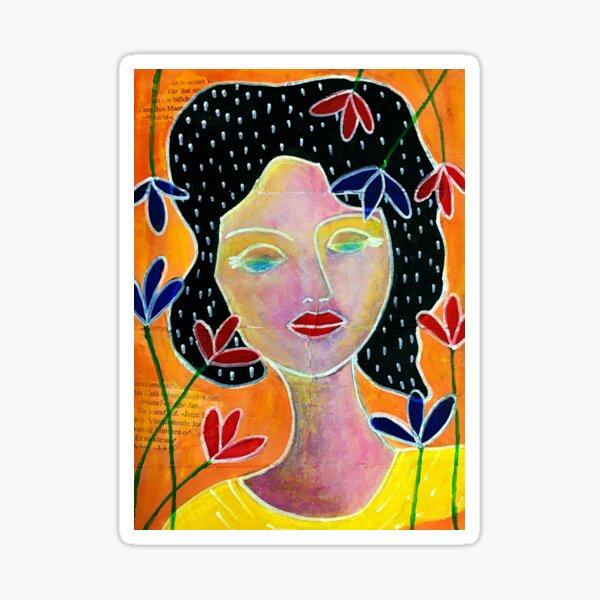 Die nachdenkliche Frau Sticker