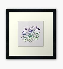 But Now Am Found Framed Print