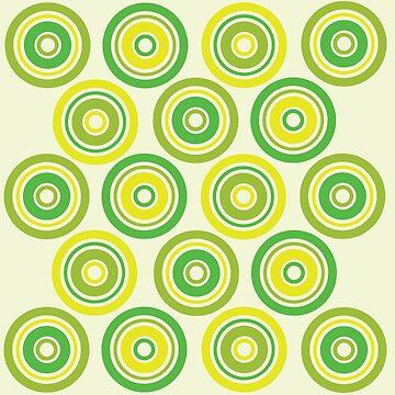Green and yellow circles by Nadinosaur8