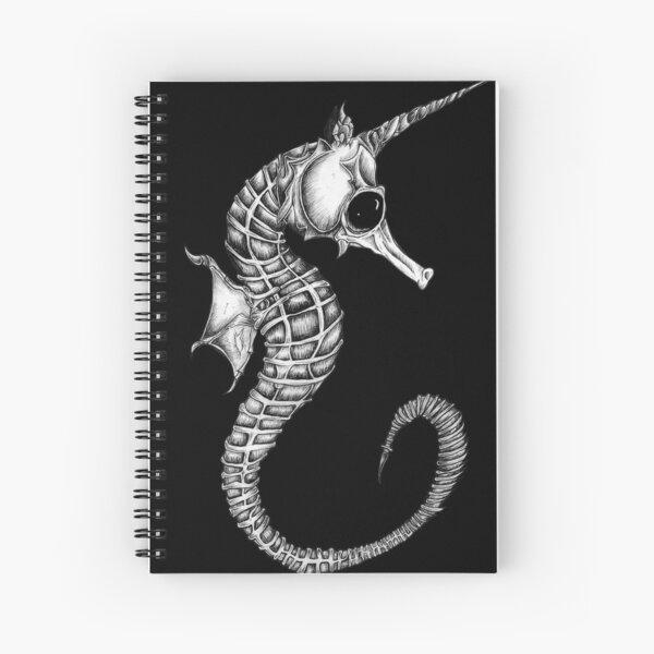 Bone animals: seahorse, absurd art Spiral Notebook