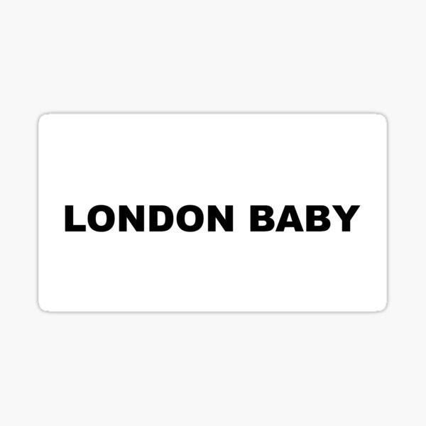 London Baby Andrei Lucas Album Merch Sticker