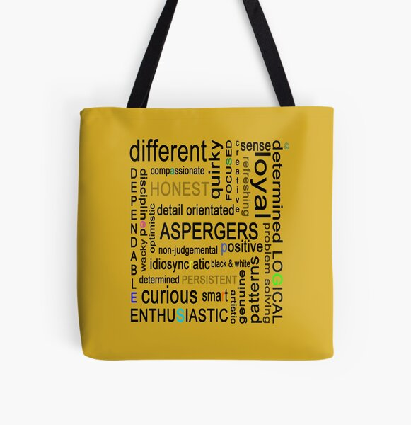 Colourful Asperger's All Over Print Tote Bag