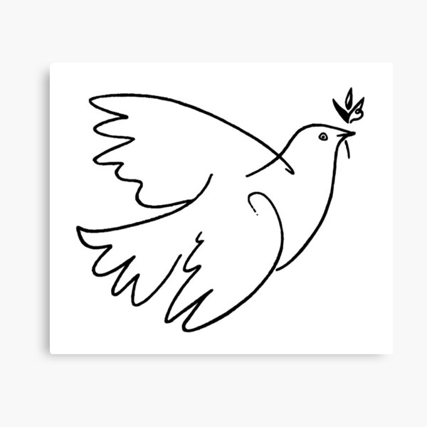 Dove of Peace by Pablo Picasso Canvas Print