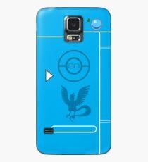 PokemonGO Team Mystic Themed Pokedex Case Hülle & Klebefolie für Samsung Galaxy