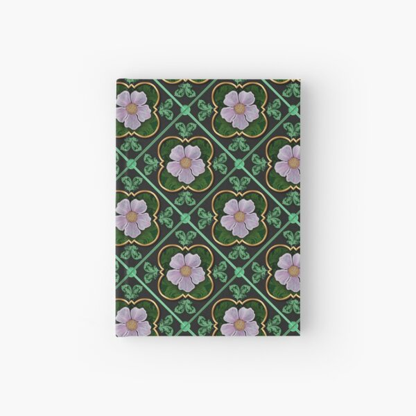 Pink and green flowers Hardcover Journal