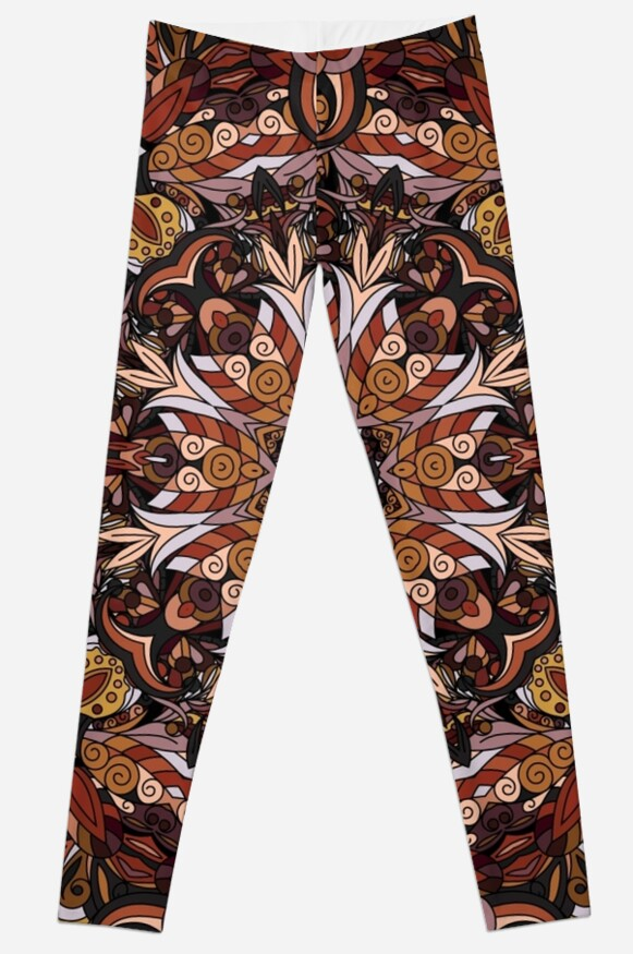 Brown Boho Mandela Pattern by rcurtiss000