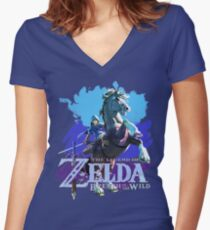 Legend of Zelda: Breath of The Wild Women's Fitted V-Neck T-Shirt