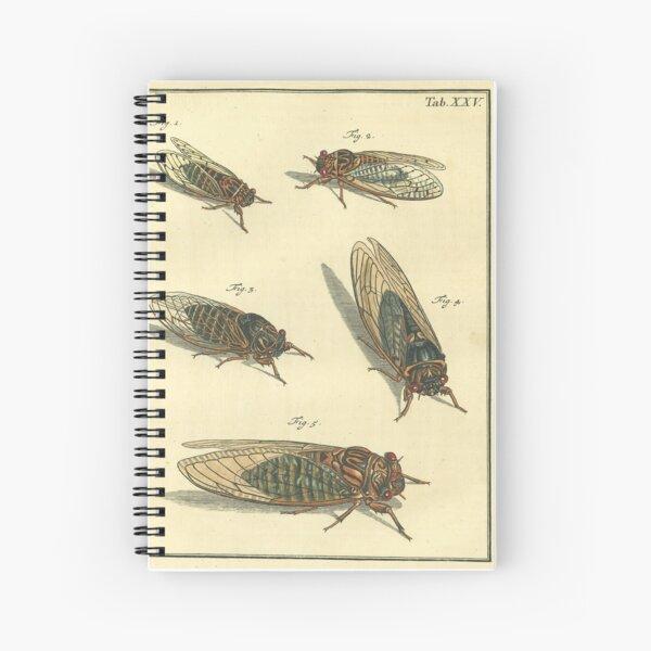 Cicada Print Spiral Notebook