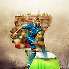 Pogba double exposure by Mark White