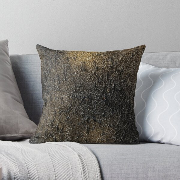 Golden Lava Throw Pillow