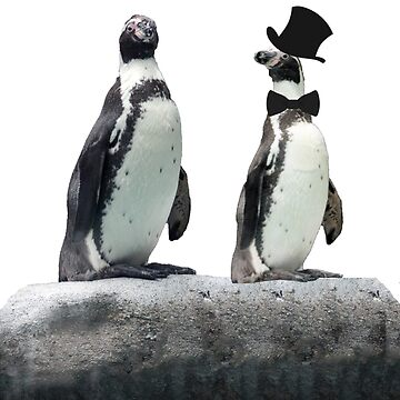 Penguin with a Top Hat with Bow Tie by KarenRohenYoder