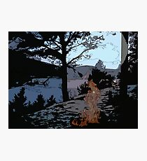 Camp Fire // Comic Style Photographic Print