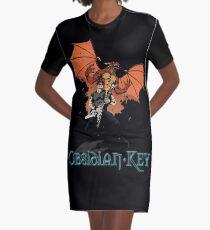 Obsidian Key - Sly Dragon and Sonic V - Progressive Rock Metal - Hand drawn Graphic T-Shirt Dress