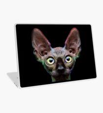 Sphynx Cat Oil Painting Chroma Laptop Skin