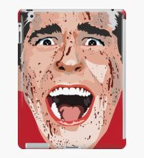 American Psycho Vector Portrait - Red iPad Case/Skin