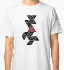 Flattened D20 - Dungeons and Dragons - Critical Role Fan Design Classic T-Shirt