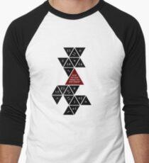 Flattened D20 - Dungeons and Dragons - Critical Role Fan Design Men's Baseball ¾ T-Shirt