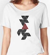 Flattened D20 - Dungeons and Dragons - Critical Role Fan Design Women's Relaxed Fit T-Shirt