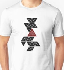 Abgeflacht D20 - Dungeons and Dragons - kritische Rolle Fan-Design Unisex T-Shirt