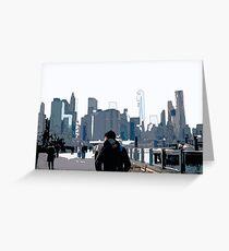 City Scene // Comic Style Greeting Card