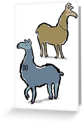 llamas with an attitude by greendeer