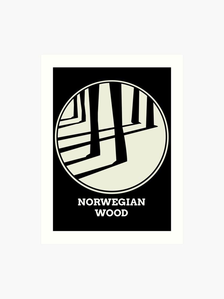Norwegian Wood Murakami   Art Print