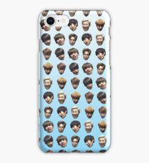 BTS (Bangtan Sonyeondan) FUNNY DERP FACE GRADIENT BLUE iPhone Case/Skin