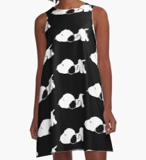 Snoopy sleeping A-Line Dress
