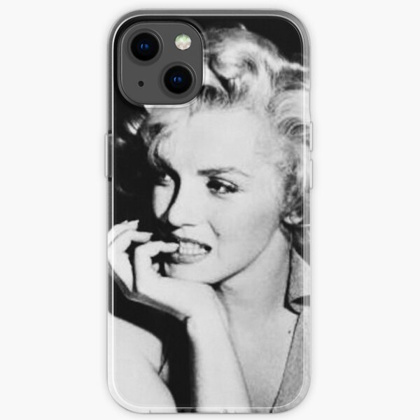 Black and White Marilyn Monroe Poster iPhone Soft Case