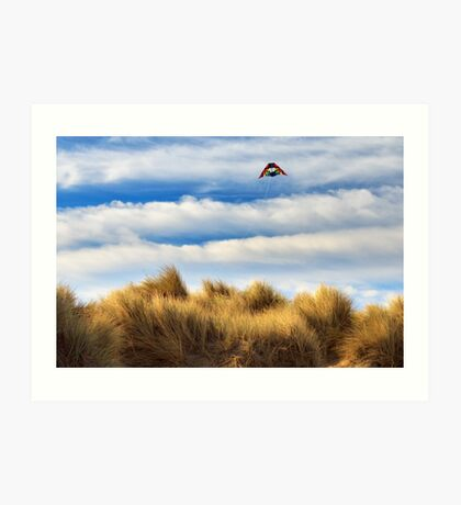 Kite Over The Hill Art Print