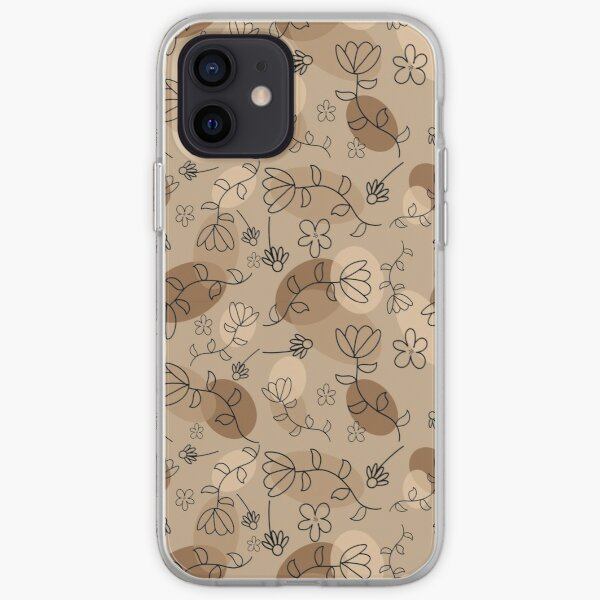 Beige Madness Pattern iPhone Soft Case