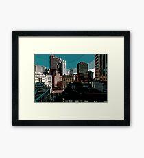 City // Comic Style Framed Print