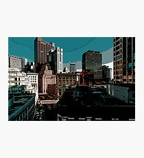 City // Comic Style Photographic Print