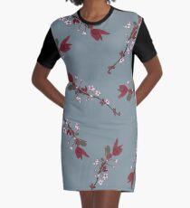 Springing Buds Graphic T-Shirt Dress