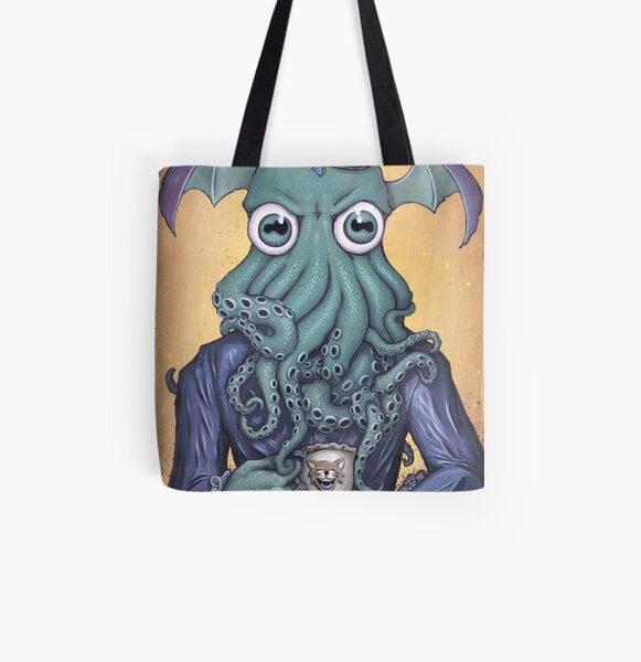ChaiThulhu (Reign in Purple) All Over Print Tote Bag
