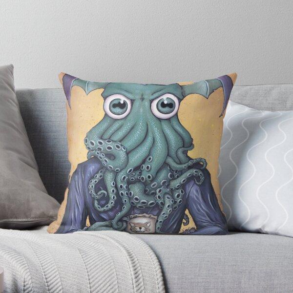 ChaiThulhu (Reign in Purple) Throw Pillow