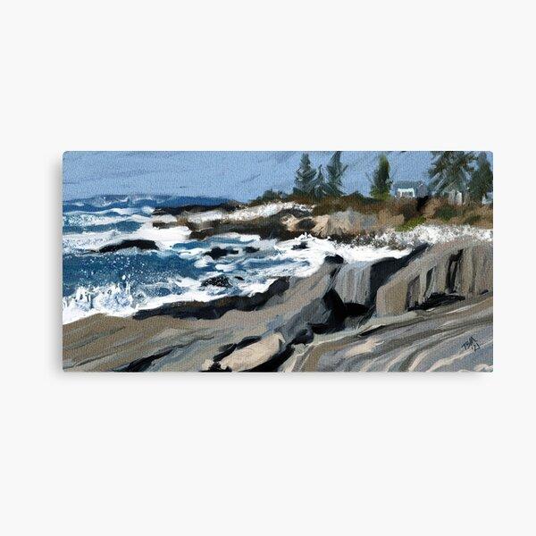 Rocky coast of Maine Canvas Print