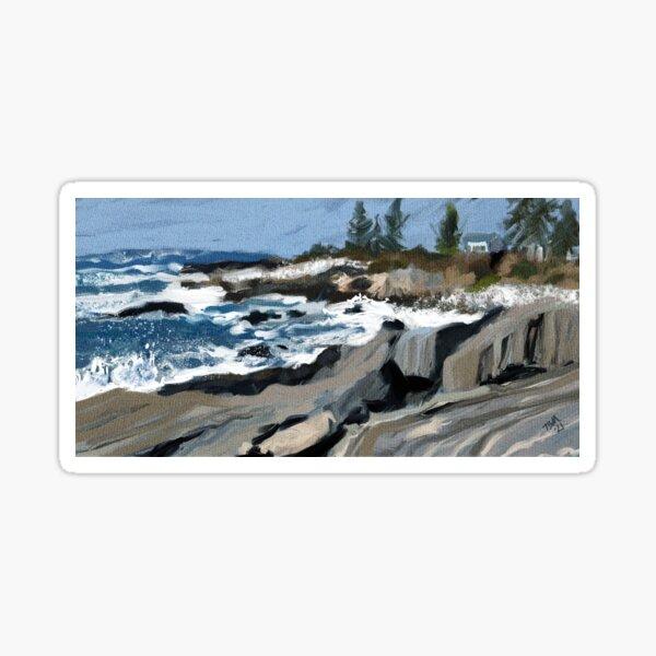 Rocky coast of Maine Sticker