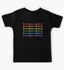 Rainbow Super Mario - Horizontal Version 1 Kids Tee