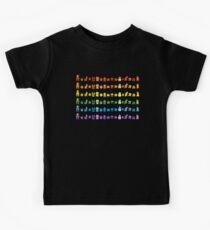 Rainbow Super Mario - Horizontal Version 1 Kids Tee