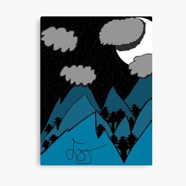 Starry Mountain Range Canvas Print