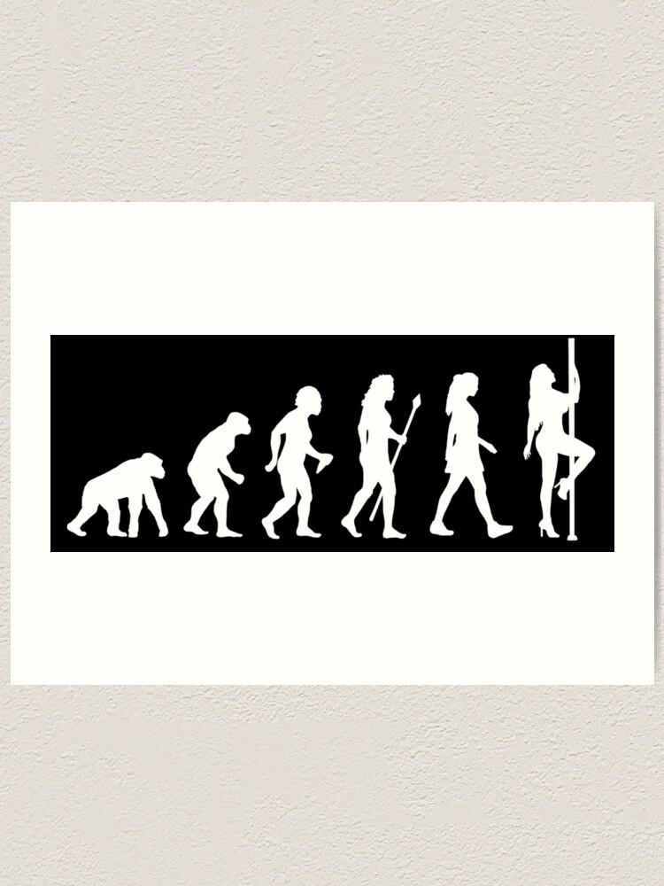 Alternate view of Funny Pole Dancing Stripper Evolution Art Print