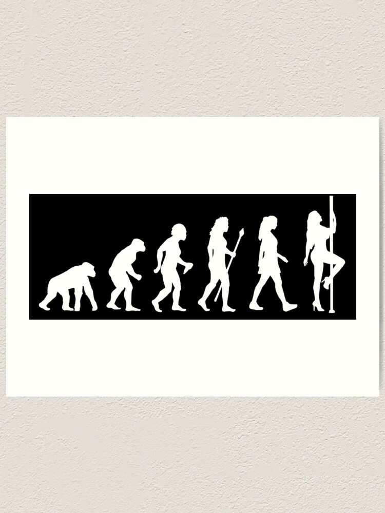 Alternate view of Funny Pole Dancing Stripper Evolution Art Print