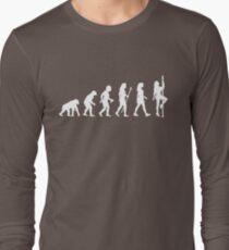 Funny Pole Dancing Stripper Evolution Long Sleeve T-Shirt