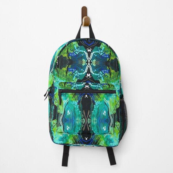 Blue-green Velvet series Backpack