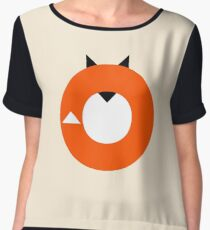 A Most Minimalist Fox Chiffon Top