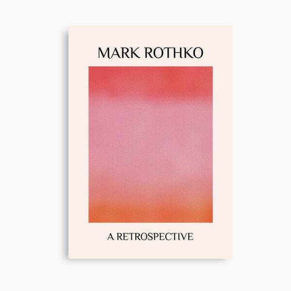 Cartel de arte de exposición de Mark Rothko, descarga digital, cartel de mark rothko, impresión de museo, decoración de pared minimalista, cartel Vintage, arte de gradación Lienzo