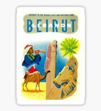 """BEIRUT LEBANON"" Vintage Travel Advertising Print Sticker"